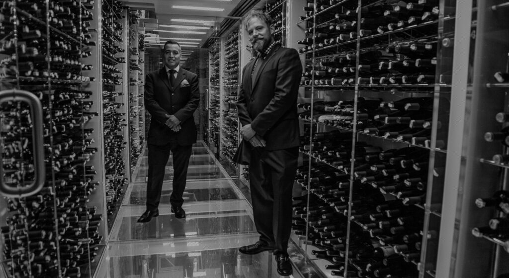 A look into the wine cellar at Plumed Horse