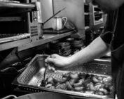 Kitchen with Staff preparing food